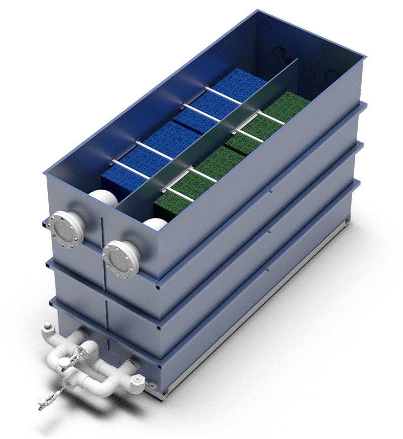 OxyShark wastewater treatment single unit layout