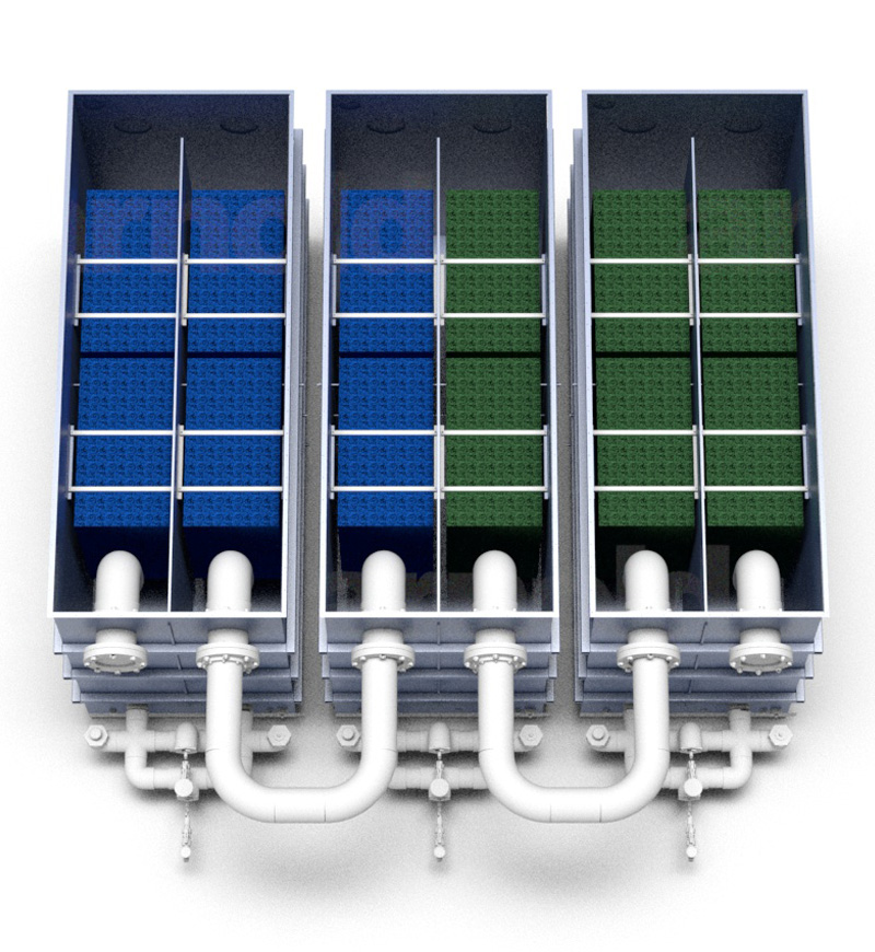 OxyShark wastewater treatment triple layout modular retrofit design